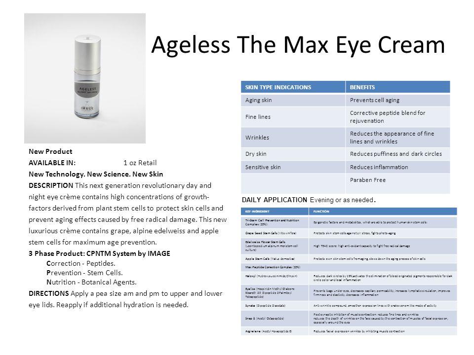 Ageless The Max Eye Cream