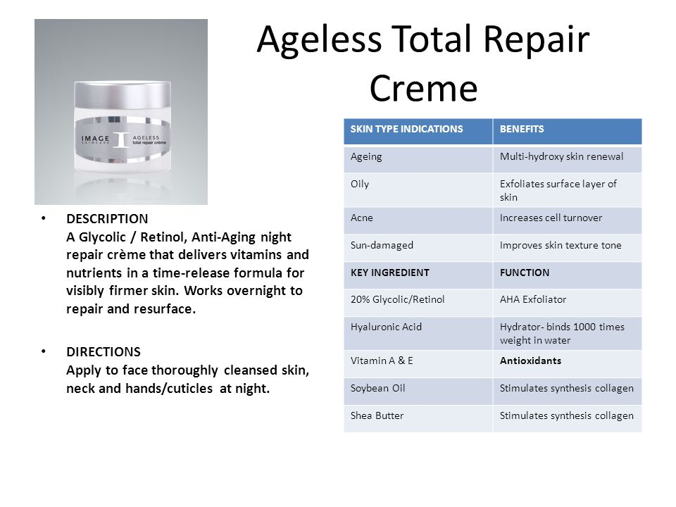 Ageless Total Repair Creme