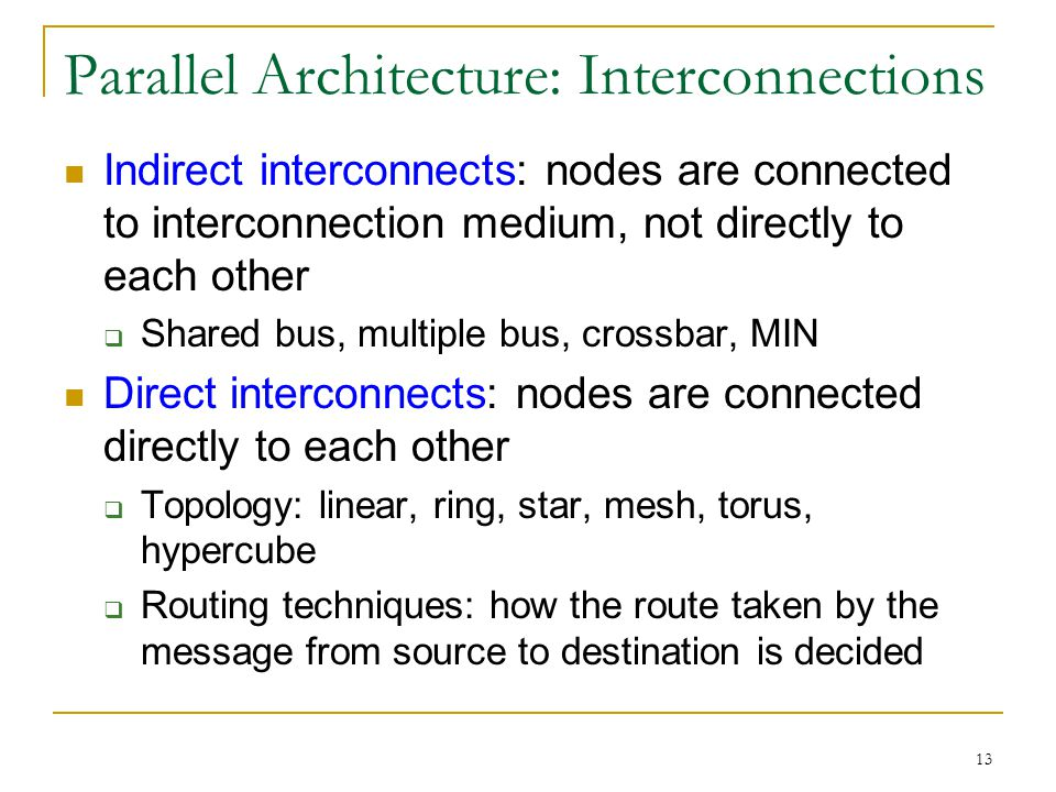 Parallel Architecture: Interconnections