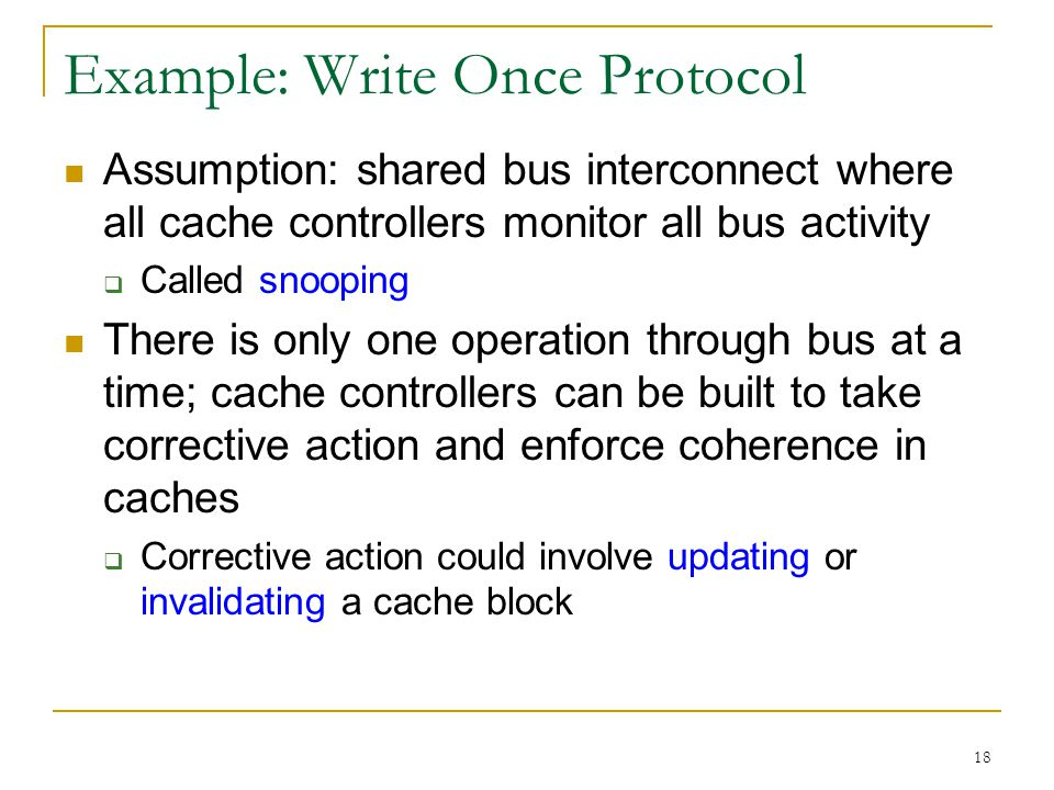 Example: Write Once Protocol
