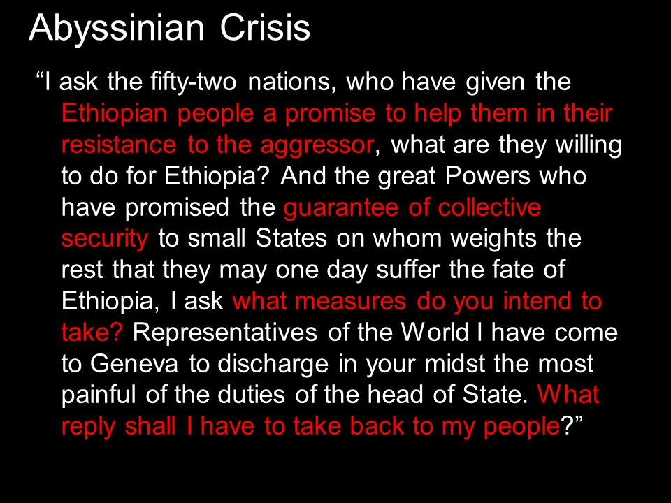 Abyssinian Crisis