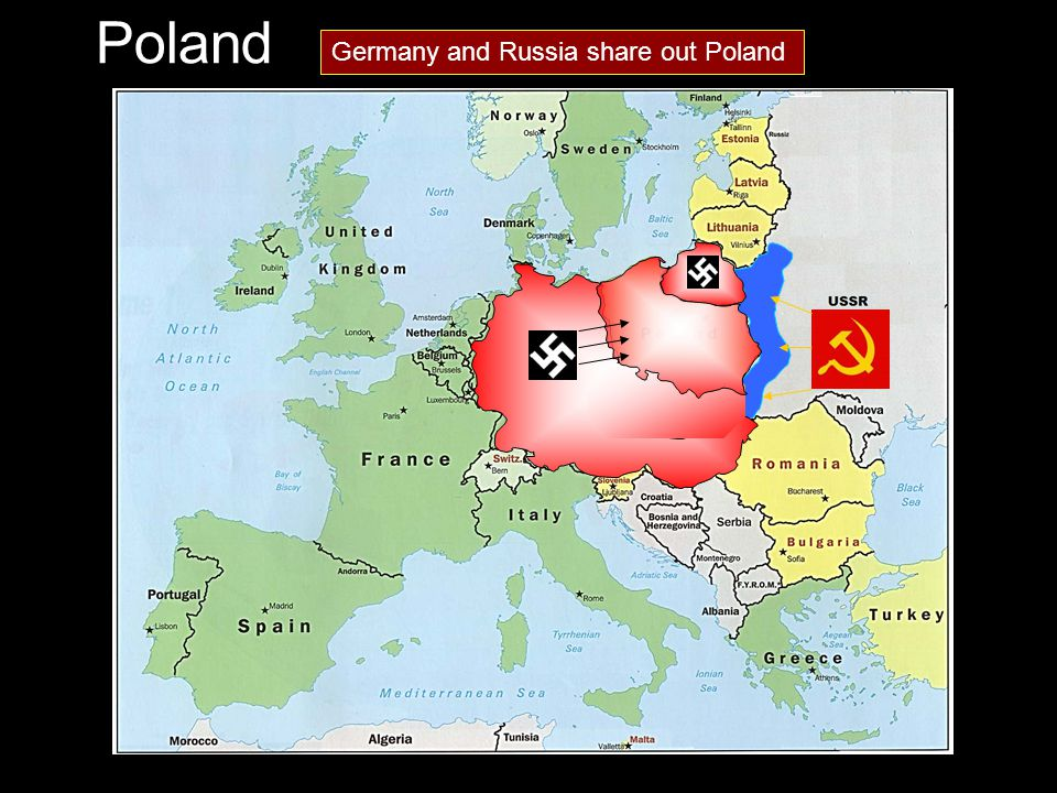 Poland Germany and Russia share out Poland