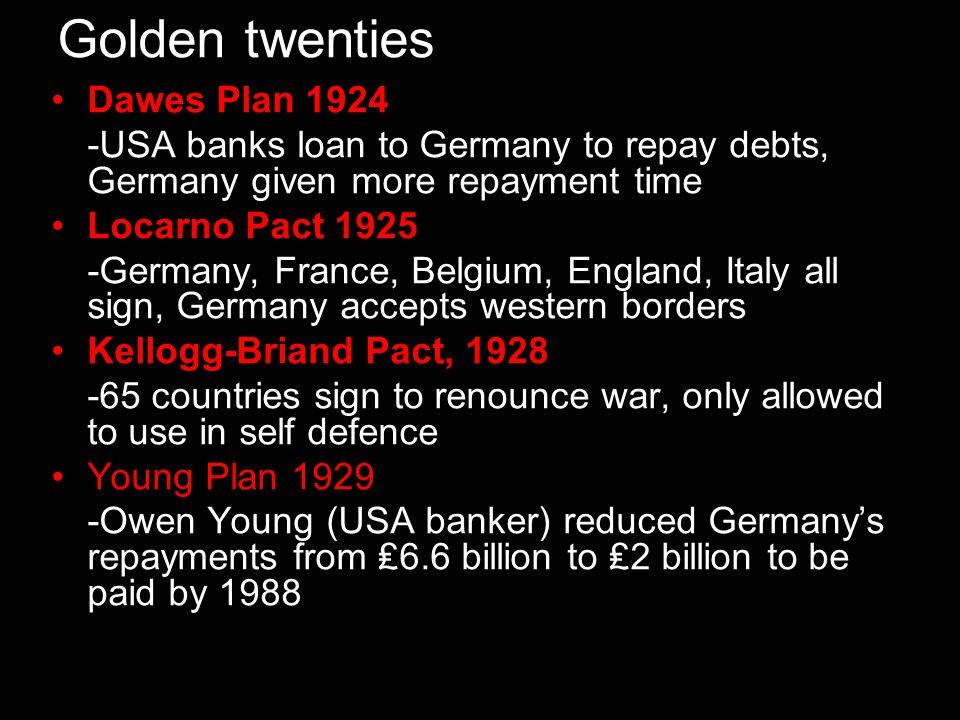 Golden twenties Dawes Plan 1924