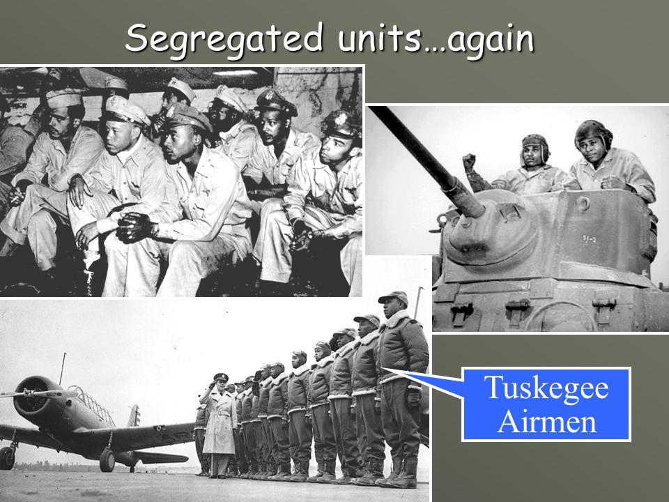 Segregated units…again