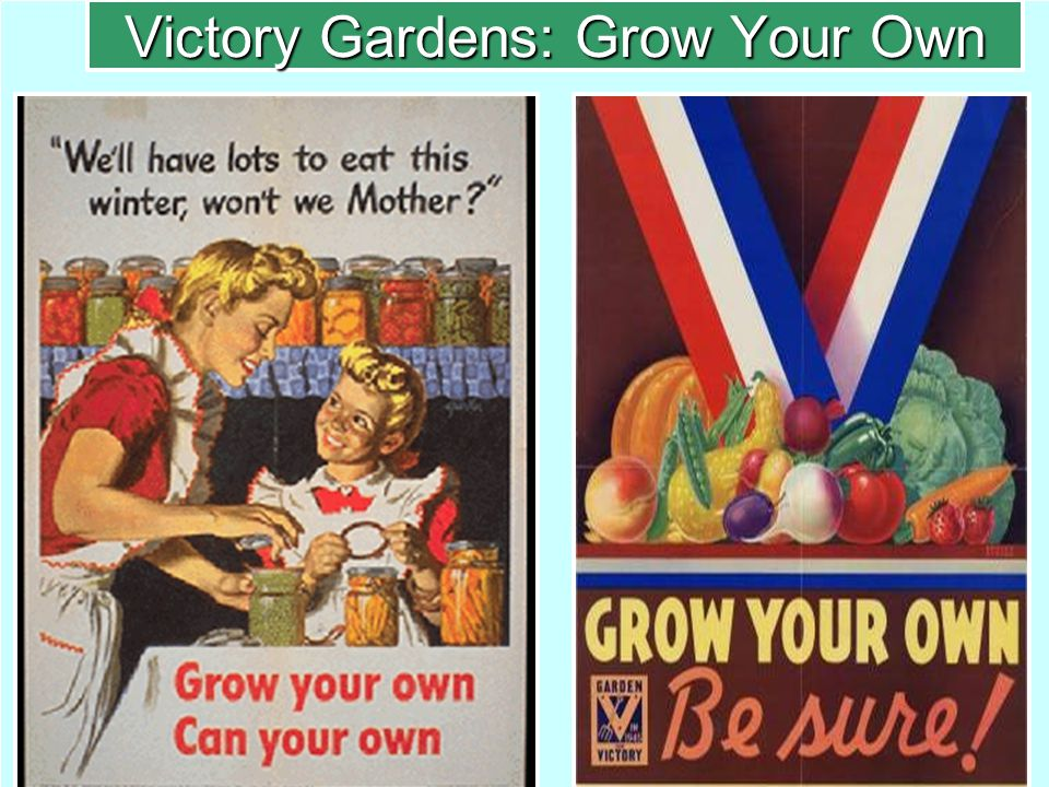 Victory Gardens: Grow Your Own