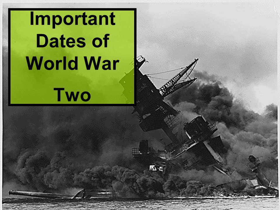 Important Dates of World War Two