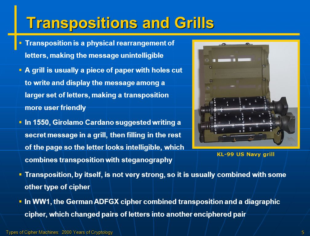 Transpositions and Grills