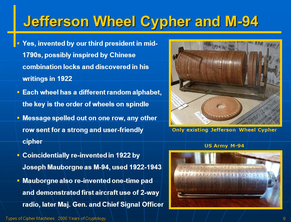 Jefferson Wheel Cypher and M-94