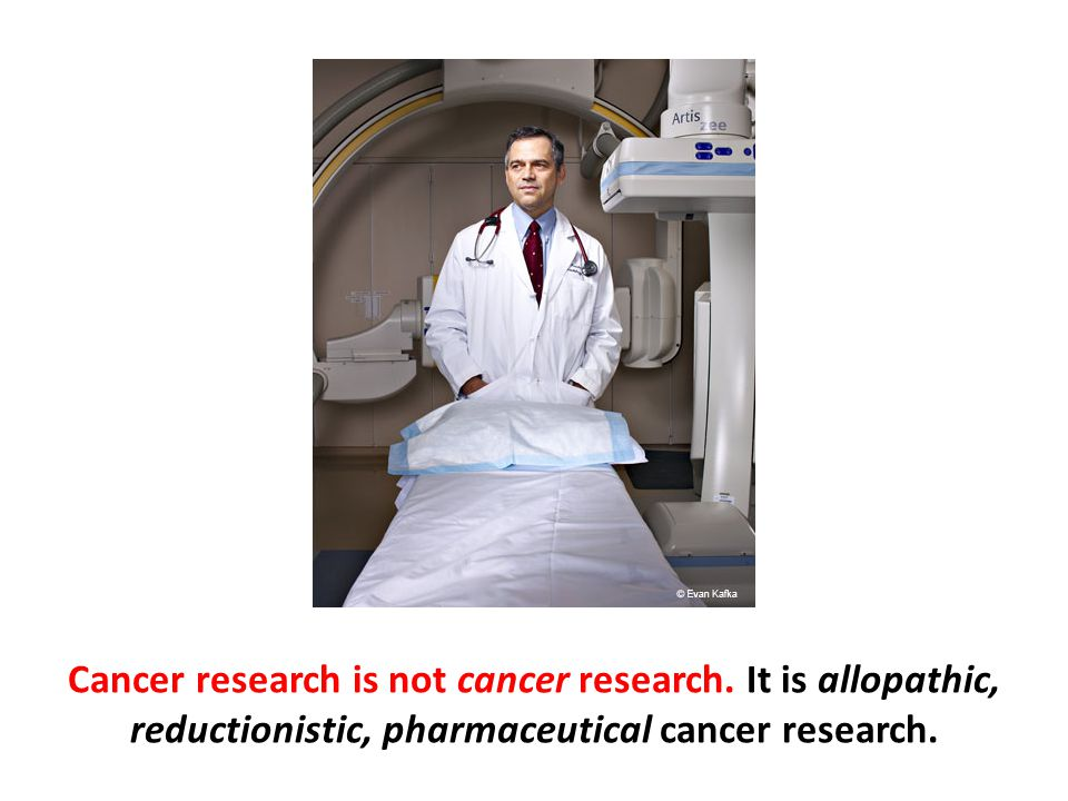 Cancer research is not cancer research