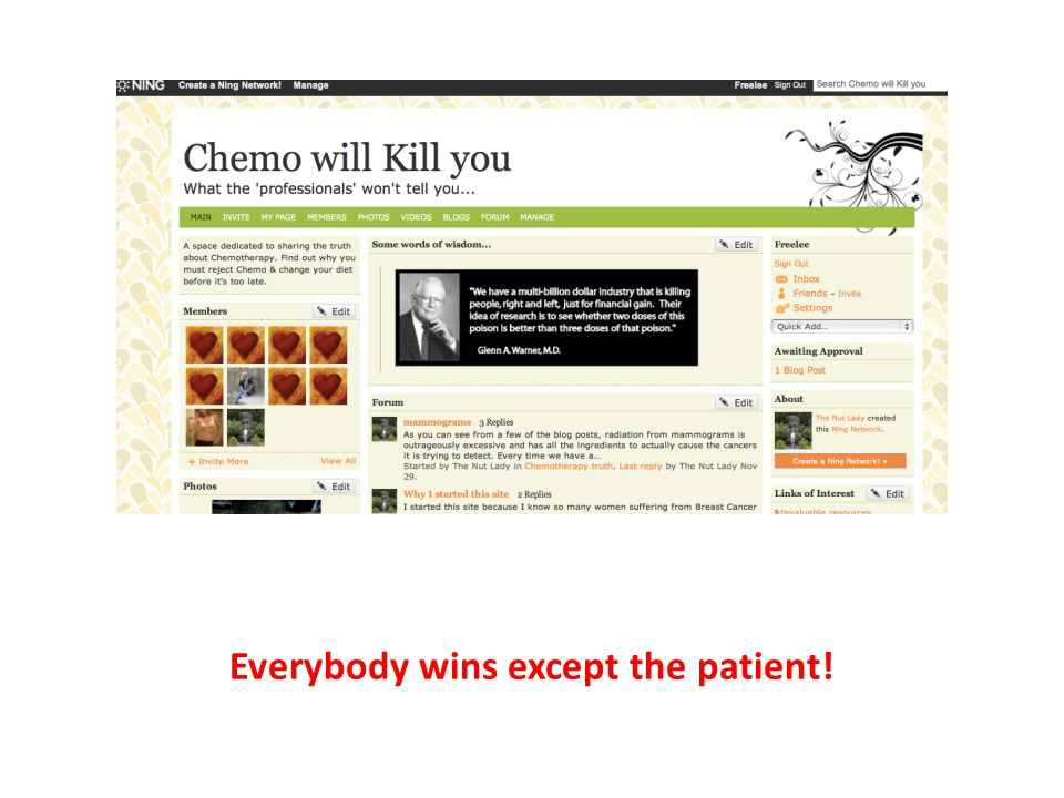 Everybody wins except the patient!