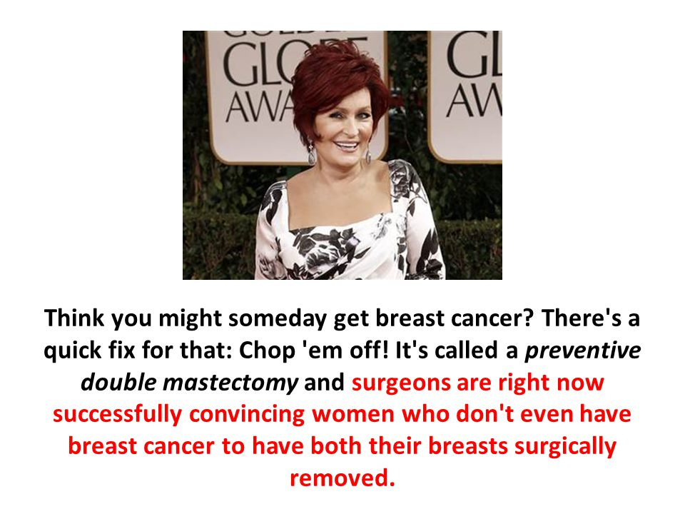 Think you might someday get breast cancer