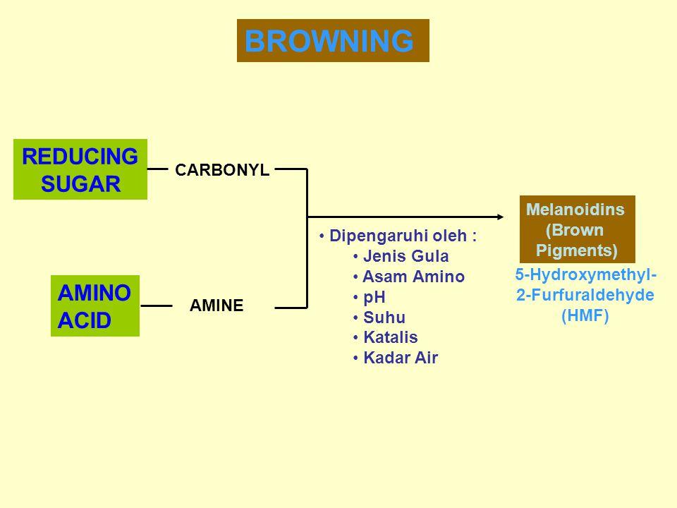 BROWNING REDUCING SUGAR AMINO ACID CARBONYL Melanoidins (Brown
