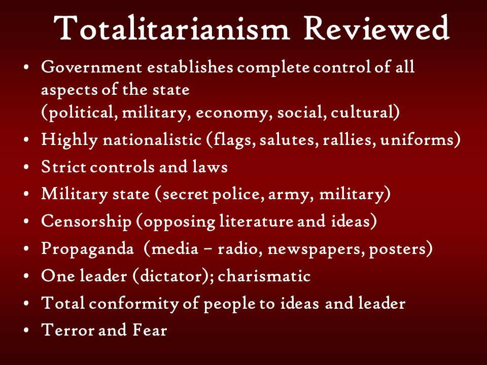 Totalitarianism Reviewed