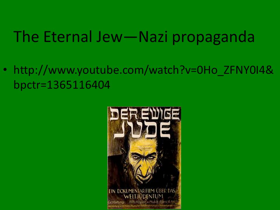The Eternal Jew—Nazi propaganda