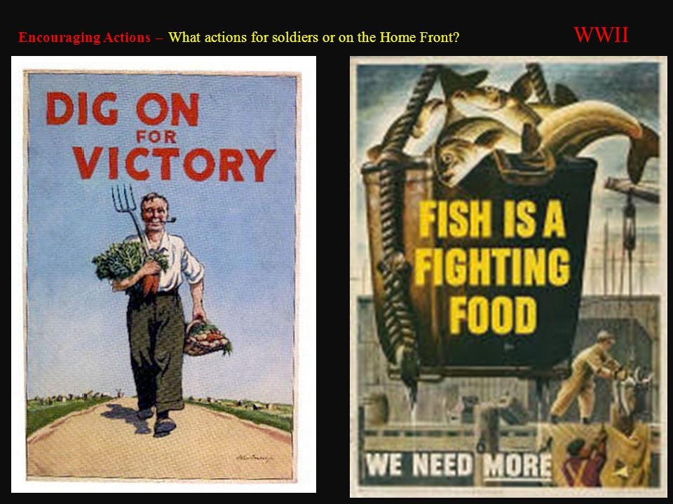 Encouraging Actions – What actions for soldiers or on the Home Front