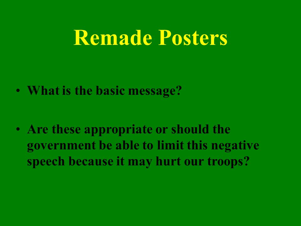 Remade Posters What is the basic message