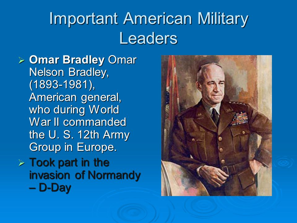 Important American Military Leaders