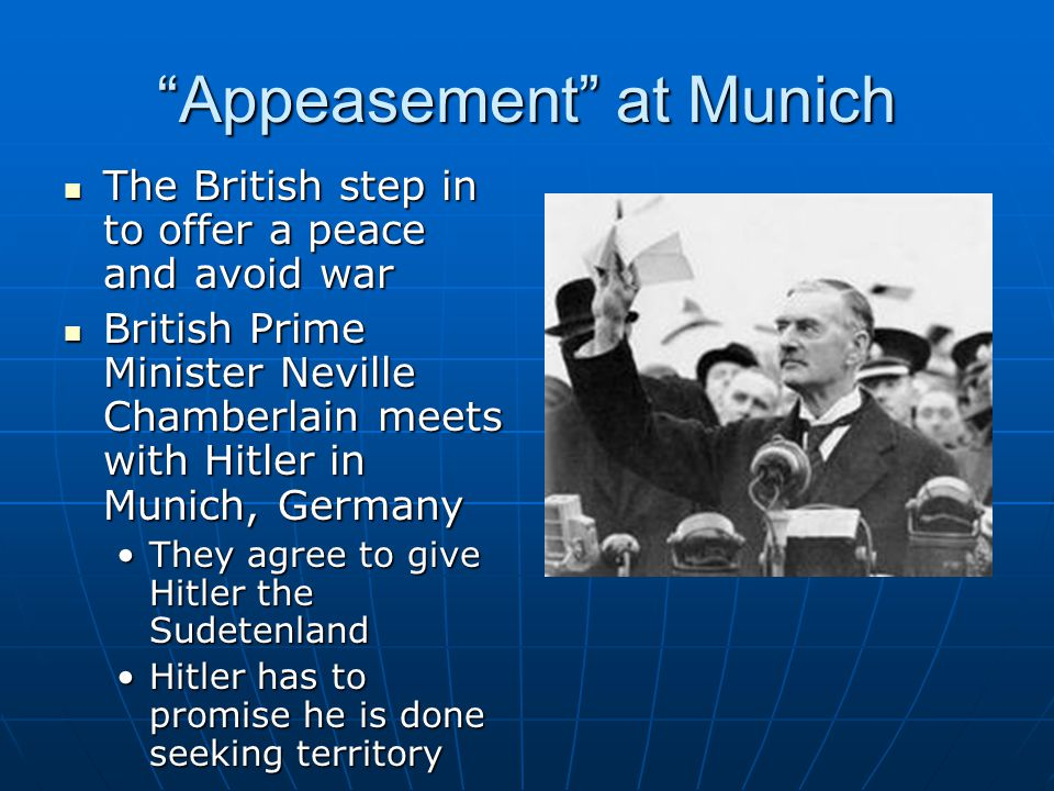Appeasement at Munich