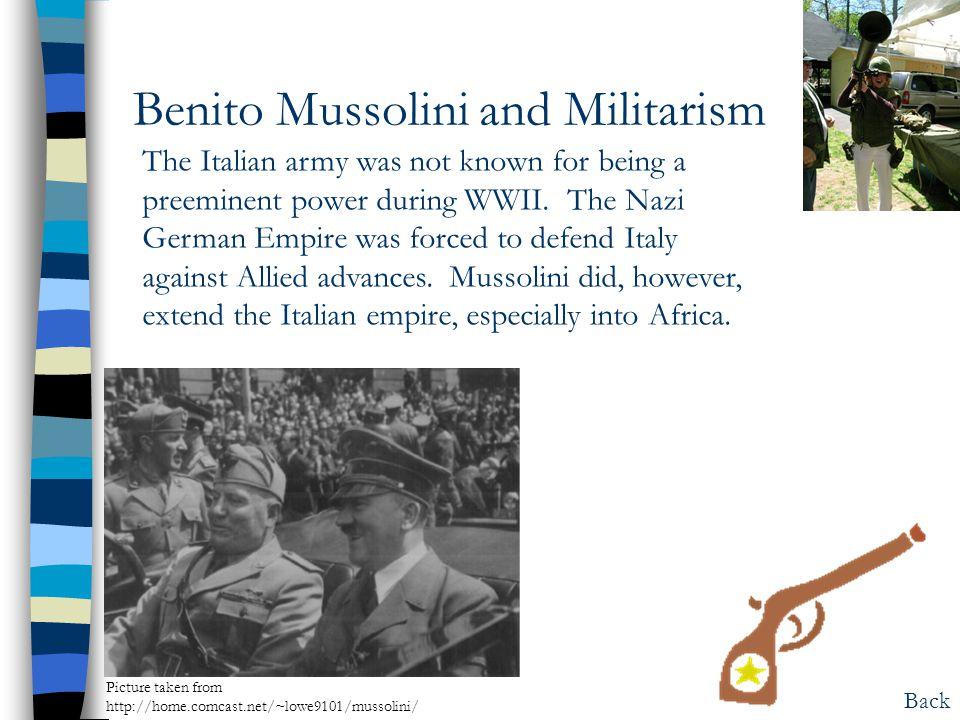 Benito Mussolini and Militarism