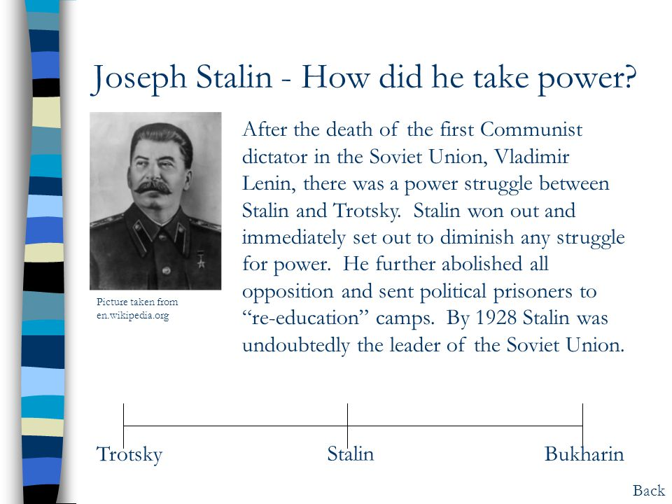 Joseph Stalin - How did he take power