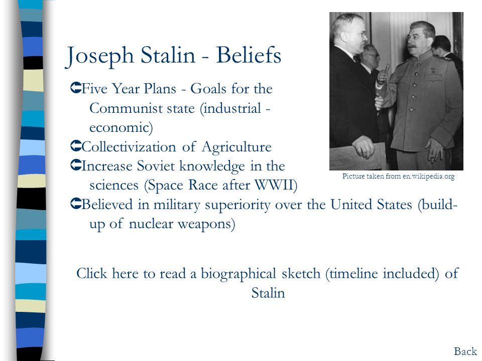 Joseph Stalin - Beliefs