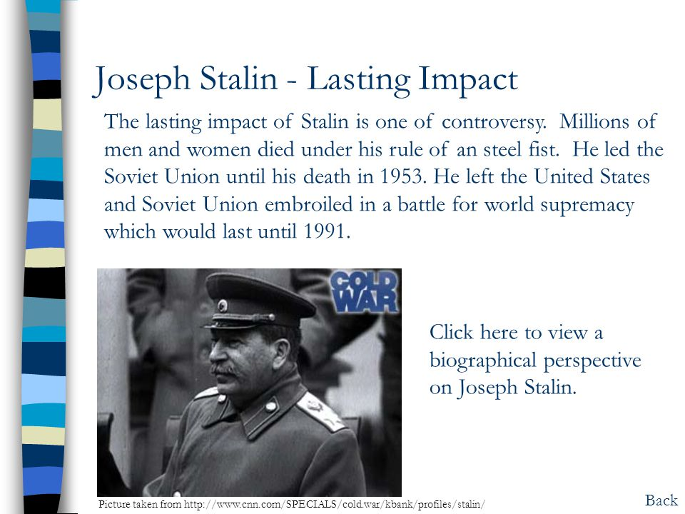 Joseph Stalin - Lasting Impact