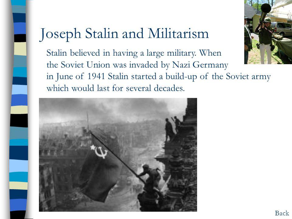Joseph Stalin and Militarism
