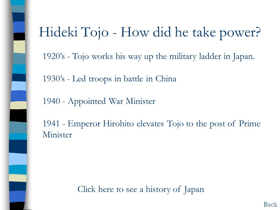 Hideki Tojo - How did he take power