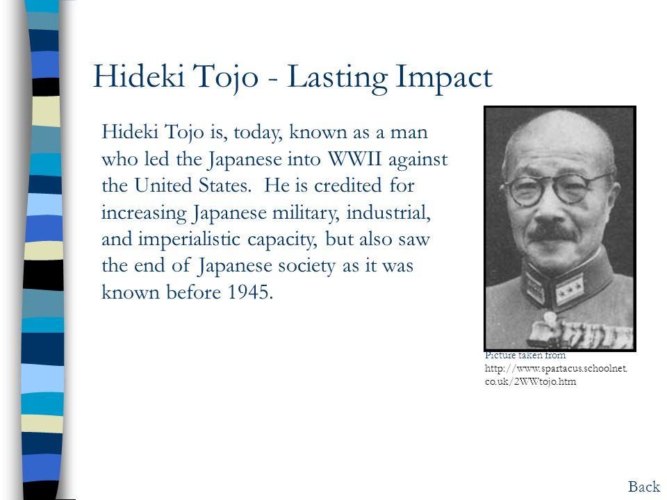 Hideki Tojo - Lasting Impact