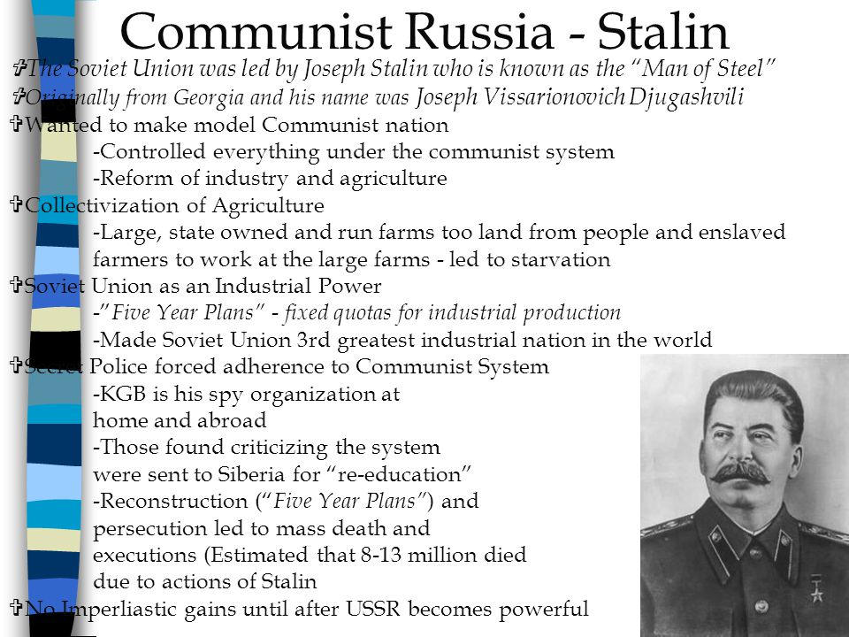 Communist Russia - Stalin