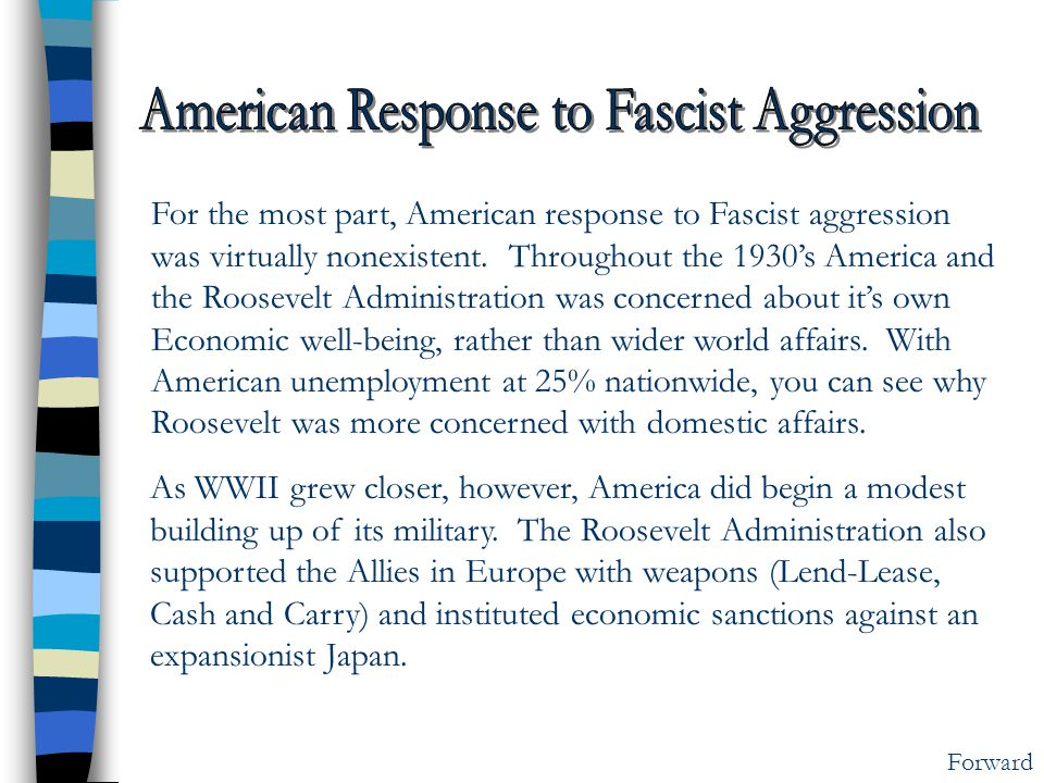 American Response to Fascist Aggression