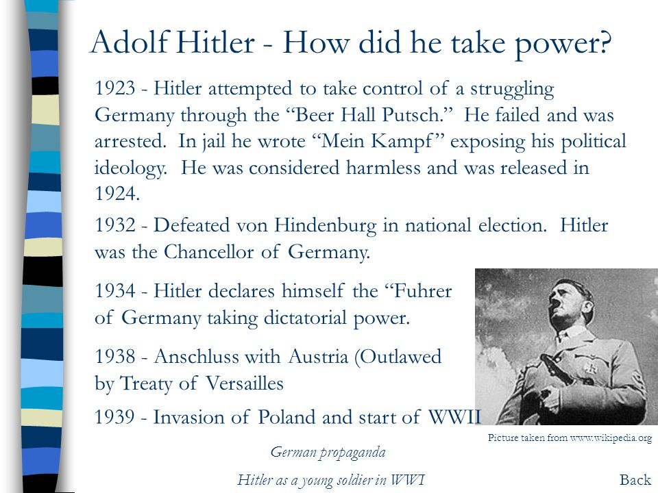 Adolf Hitler - How did he take power