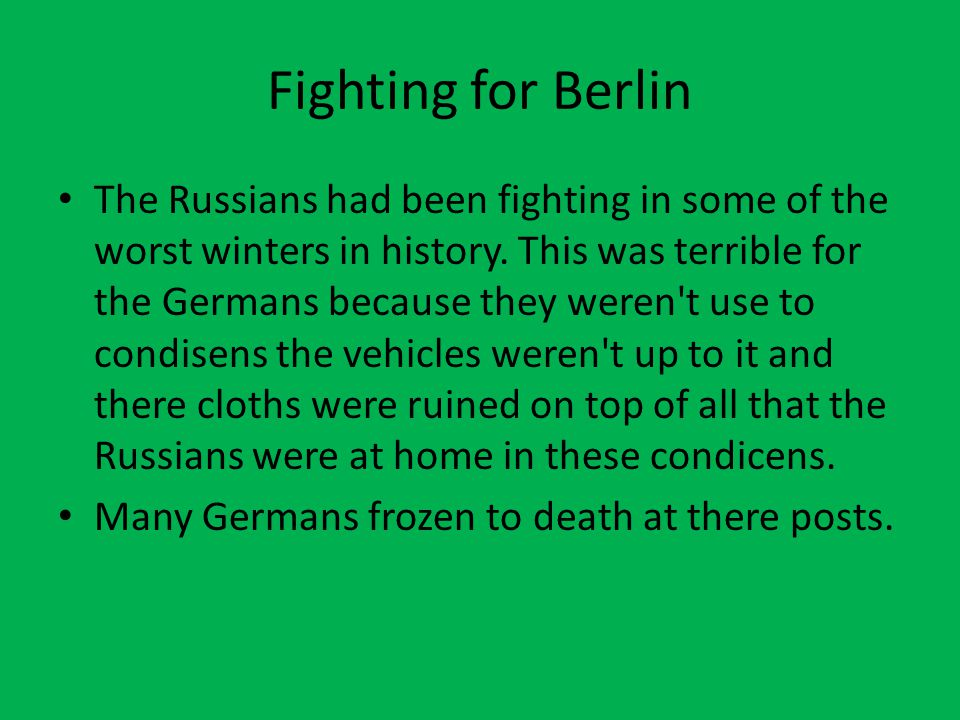 Fighting for Berlin
