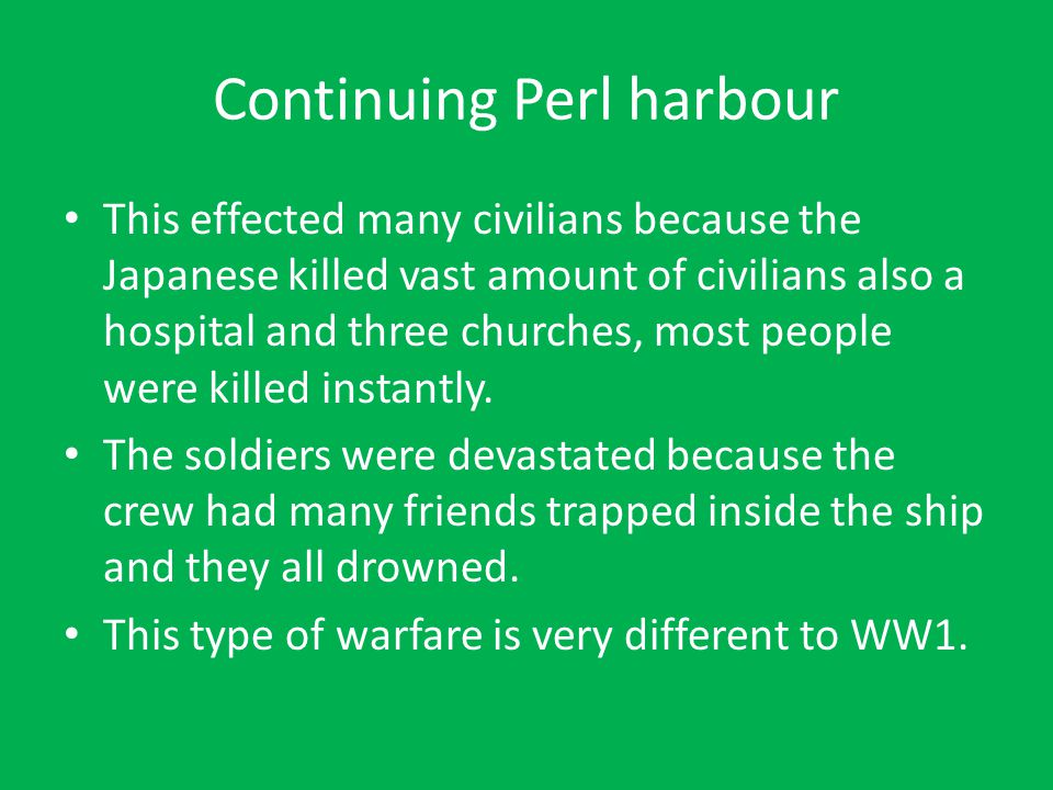 Continuing Perl harbour