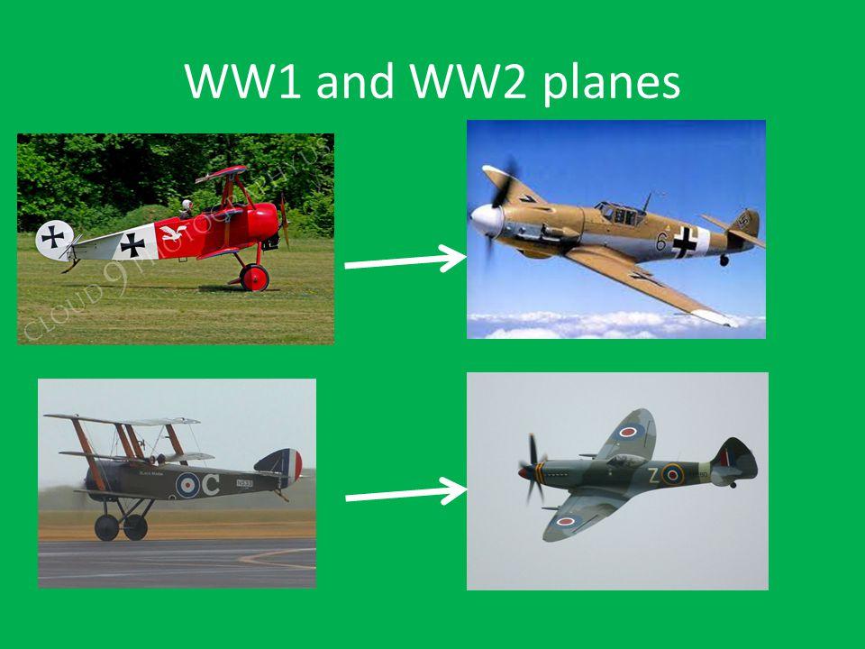 WW1 and WW2 planes