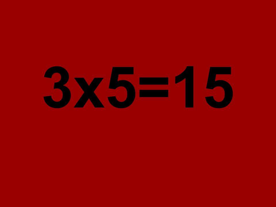 3x5=15