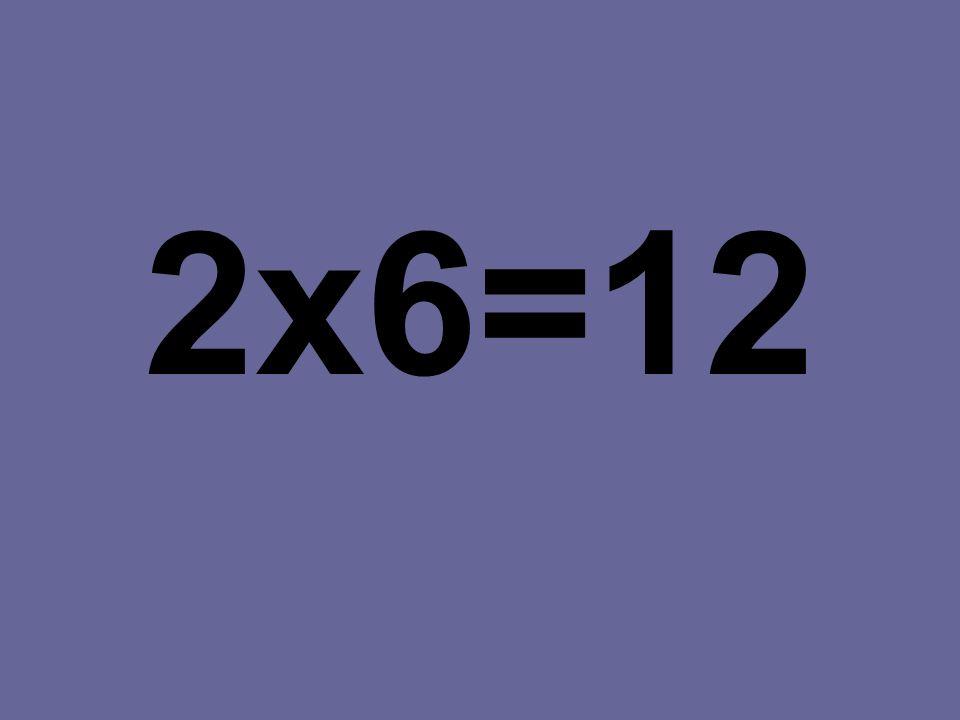 2x6=12