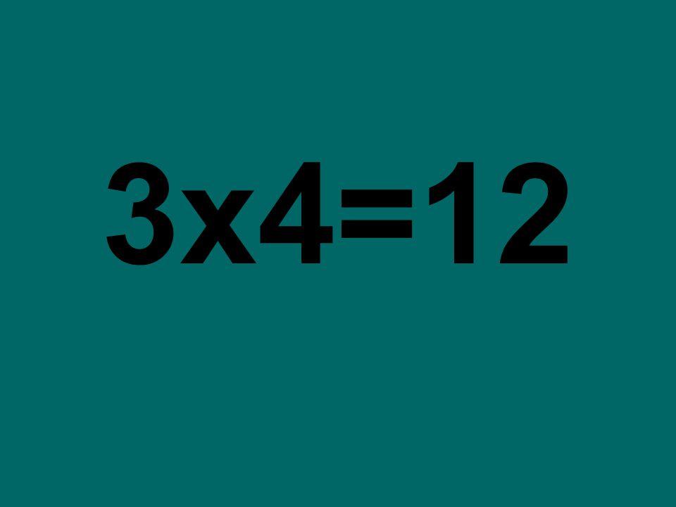 3x4=12