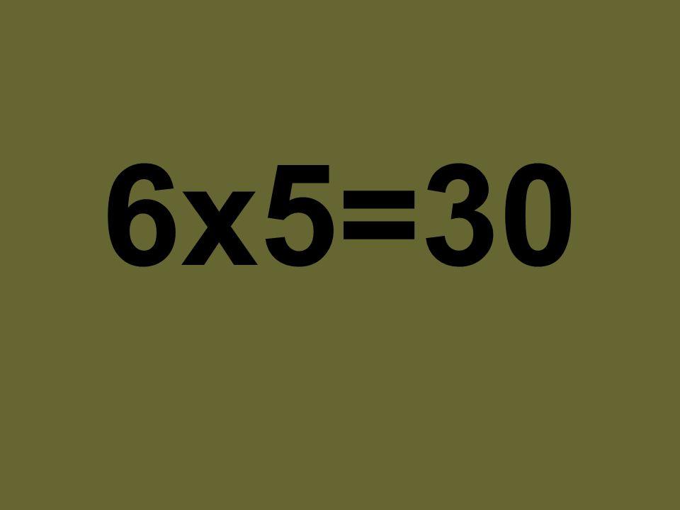 6x5=30