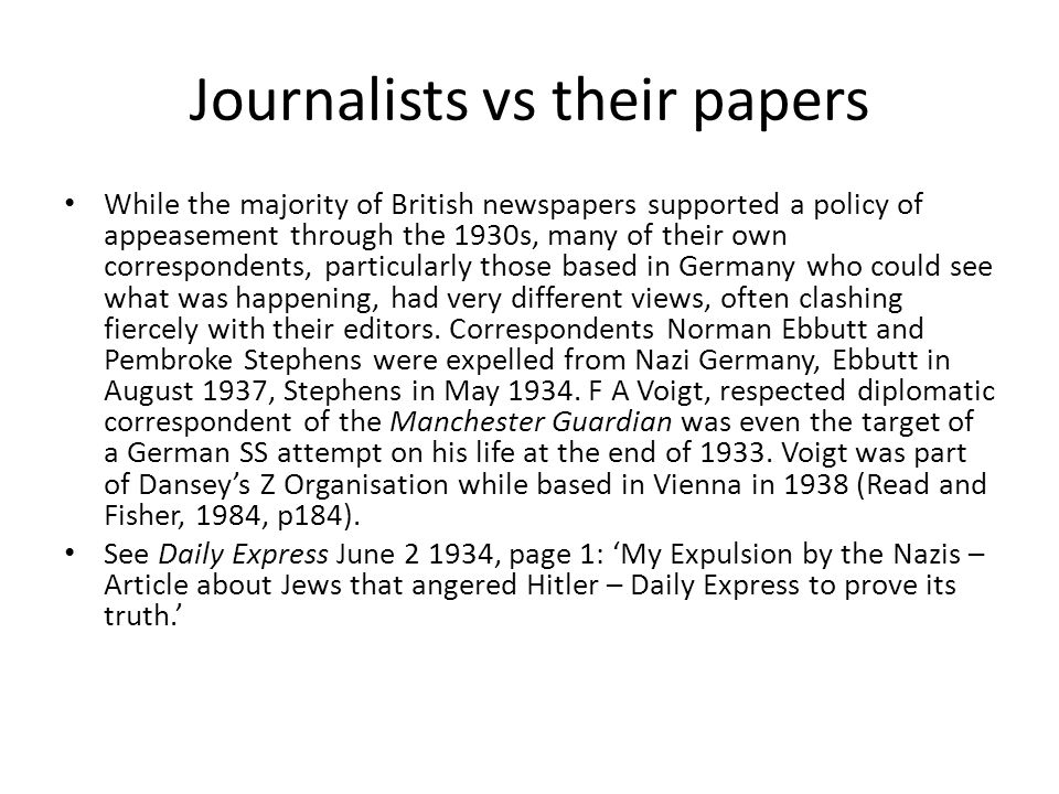 Journalists vs their papers