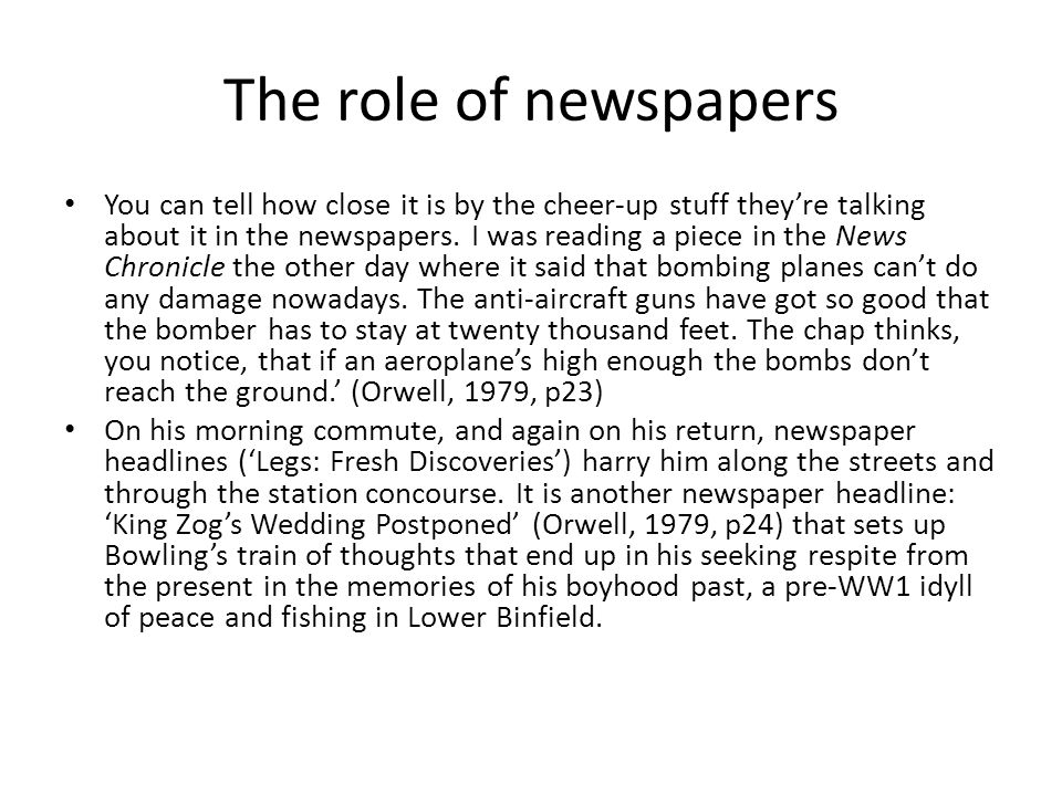 The role of newspapers