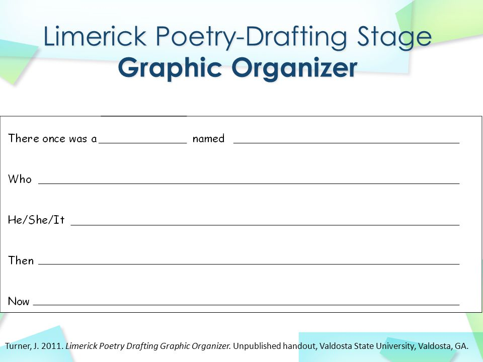 Limerick Poetry-Drafting Stage Graphic Organizer