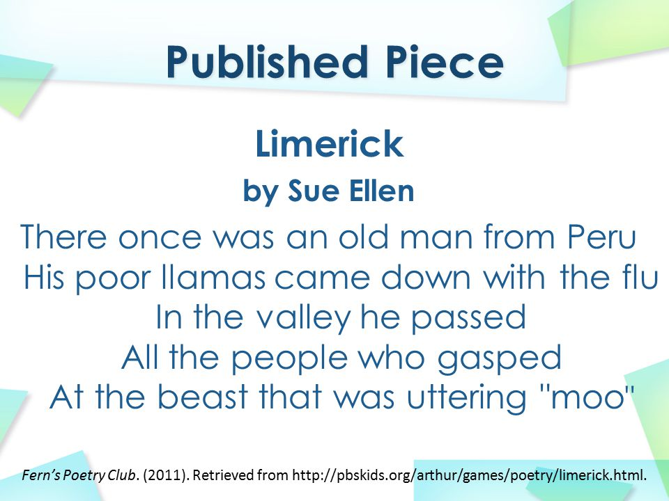 Published Piece Limerick