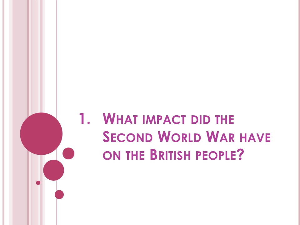 What impact did the Second World War have on the British people
