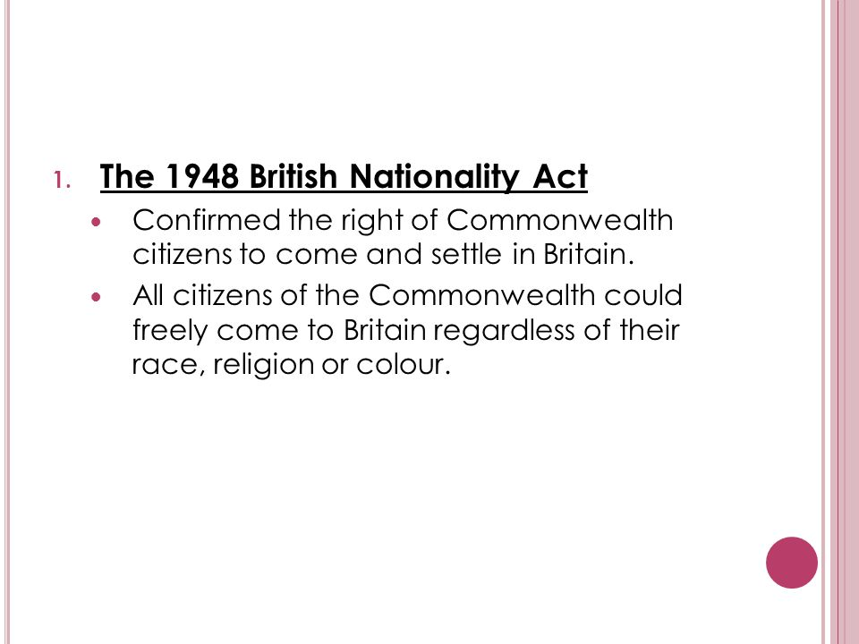 The 1948 British Nationality Act