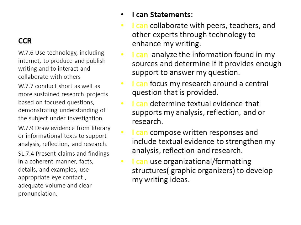 I can focus my research around a central question that is provided.