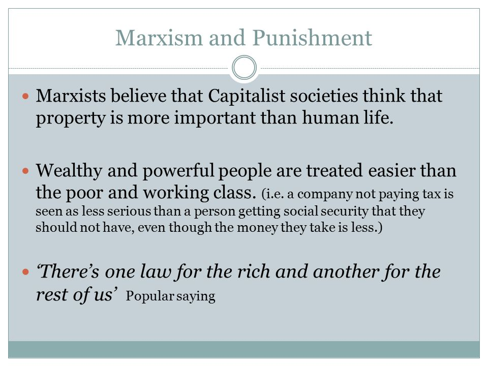Marxism and Punishment