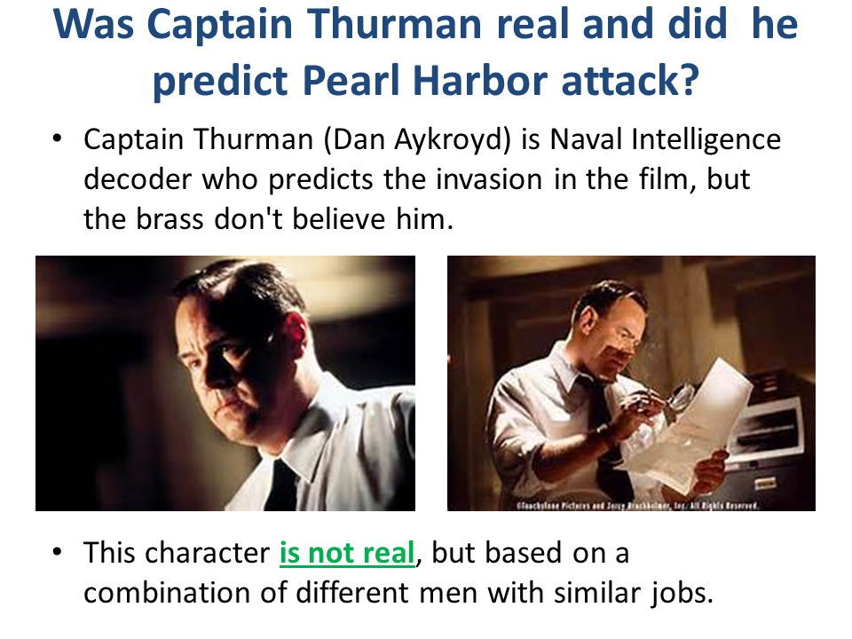 Was Captain Thurman real and did he predict Pearl Harbor attack