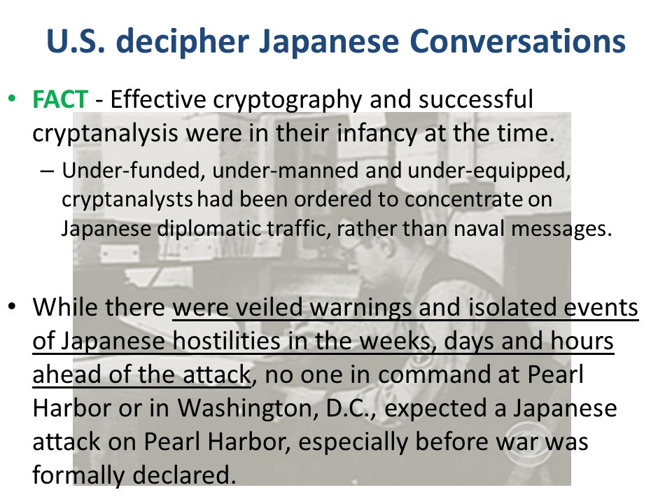 U.S. decipher Japanese Conversations