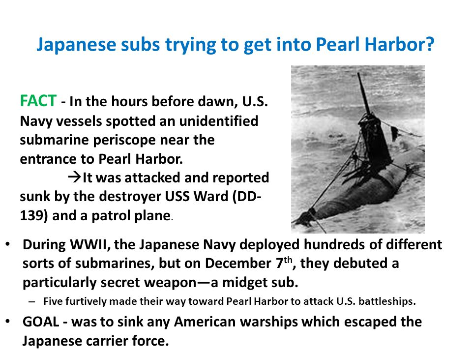 Japanese subs trying to get into Pearl Harbor